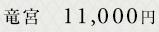 竜宮 11,000円
